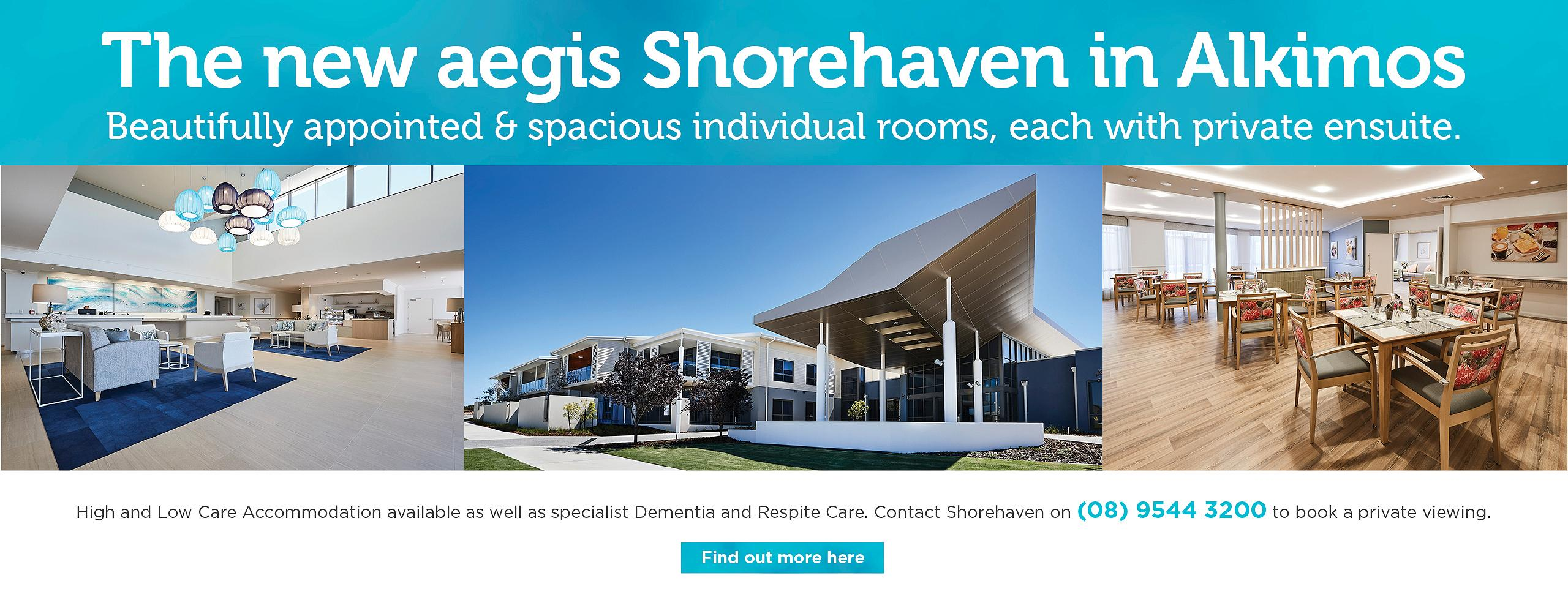 Aegis Shorehaven - Opening August 2020